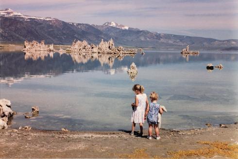 hanging in Mono Lake, 1993