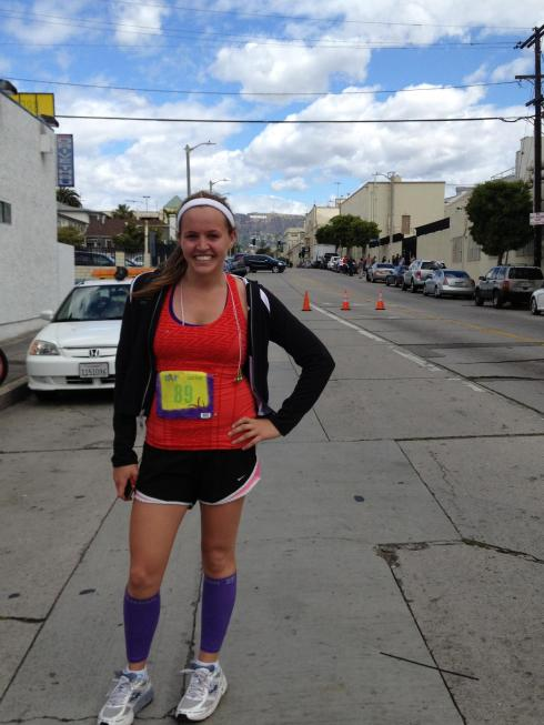 post she runs la 10k.