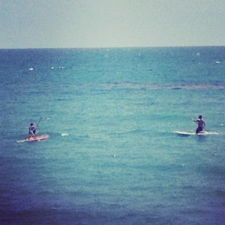 paddle-boarding!