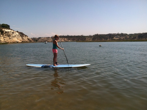 paddle-boarding in Newport.