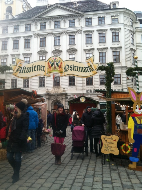 at an Easter Market in Vienna.