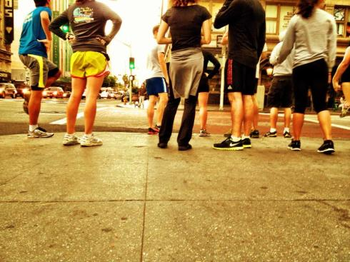 my first run with #DTLARunning Group.