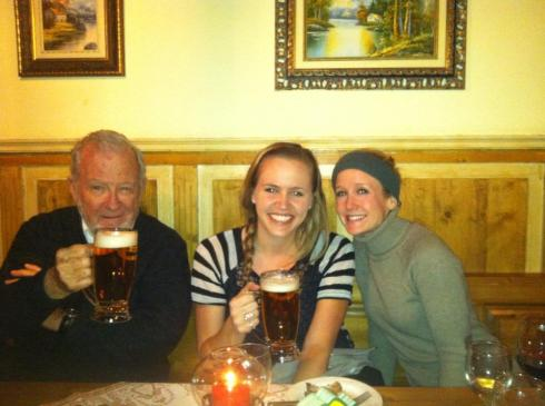 with my friend and teammate Rachael and Professor McDermott on our last night in Vienna.