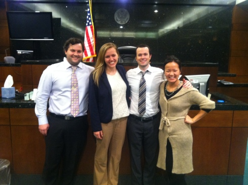 taylor, me, ben, and our clerk Tiffany.