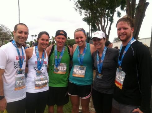OPHS alumni: Jeff, Sam, Hannes, me, Kels and her fiancé, Drew