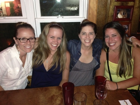 """kelsey, me, whitney, and hayley. just realized i'm the odd one out without an """"ey"""" last name."""
