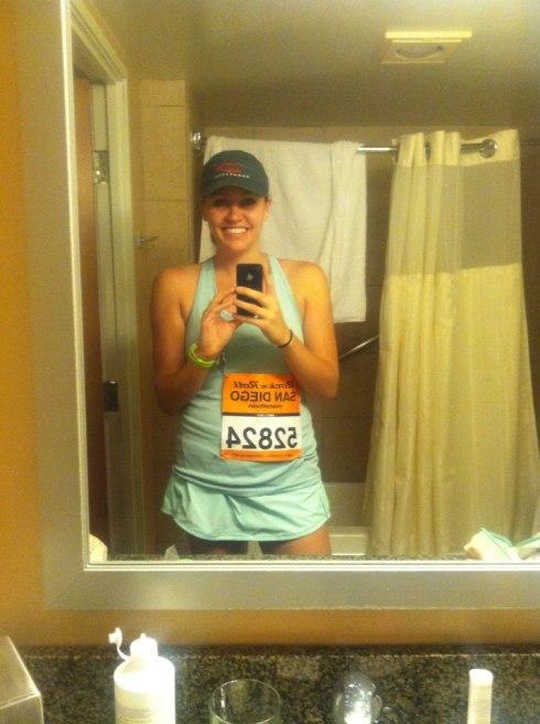pre-marathon selfie. because...