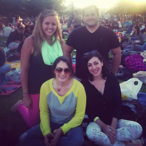law school friends at Street Food Cinema.