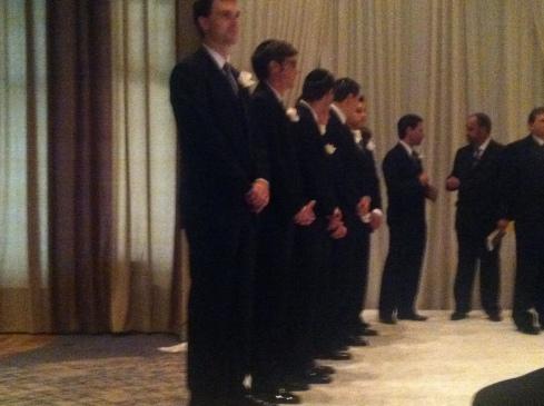 some of my friends groomsmen-ing.