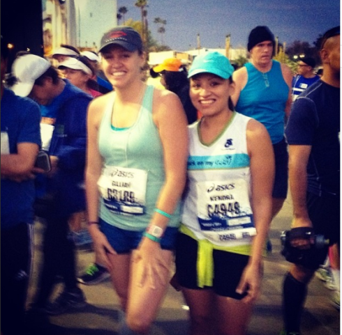Me and Kendra before the start.